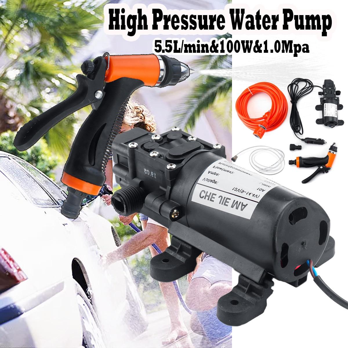 12V 160Psi High Pressure Diaphragm Self Priming Water Pump 6.5Lpm 100W Electric Car Washing Machine Car Washer For Gun Pump