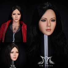 YMTOYS 1/6 Female Song Head Sculpt Long Straight Hair Figure Fit for Phicen Tbleague JIAOUL Doll Figure Body Toys цена