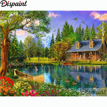 Dispaint Full Square/Round Drill 5D DIY Diamond Painting House scenery 3D Embroidery Cross Stitch Home Decor Gift A11326