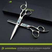 6 jewel haircut japan hair scissors razor hairdressing scissors barber kit professional hot shears for hair salon de coiffure