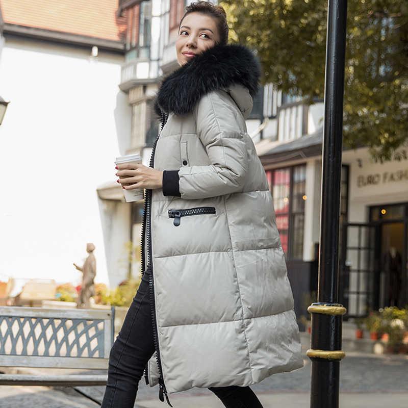 リアル本革ジャケットシープスキンのコートタヌキの毛皮フード付き冬女性服 2019 コートプラスサイズ ZT1150