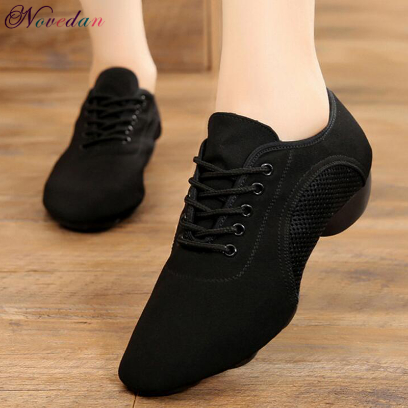 Men Women Latin Teacher Dance Shoes Professional Black Canvas Salsa Plus Size Modern Ballroom Tango