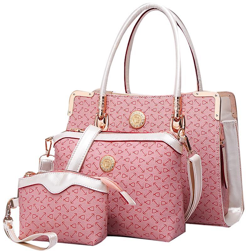 Embossed PVC Composite Bag Women Handbag Crossbody Bag With Clutch Purse Ladies Shoulder Bags Female Messenger Tote Sac 2017 summer pink women composite bag set for beach pvc clear transparent bags shoulder small ladies clutch messenger handbag