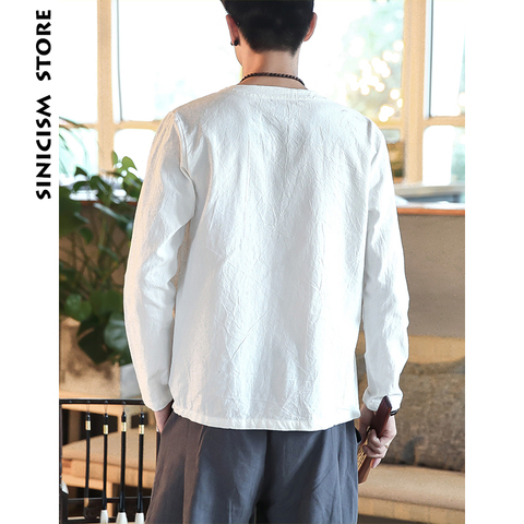 Sinicism Store Men Shirts 2019 Man Solid Belt Shirts Long Sleeve Shirts Casual Slim Fit Male Fashions Chinese Style Clothing Islamabad