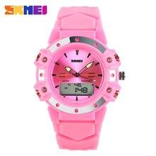 SKMEI Dual Time Повседневная цифровой женские/Мужские модельные Спорт Желе военные часы Рождественский подарок 3AT водонепроницаемый кремния наручные часы