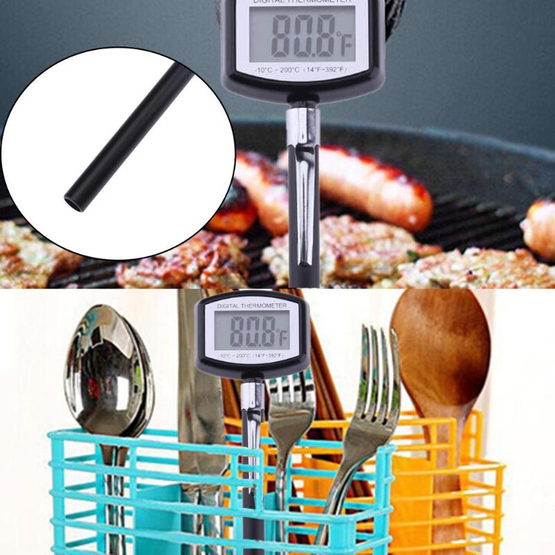 Digital LCD BBQ Electronic Food Thermometer Protable Barbecue Meat&Coffee Creative Pen Style Thermometer Tool 180*40*15MM