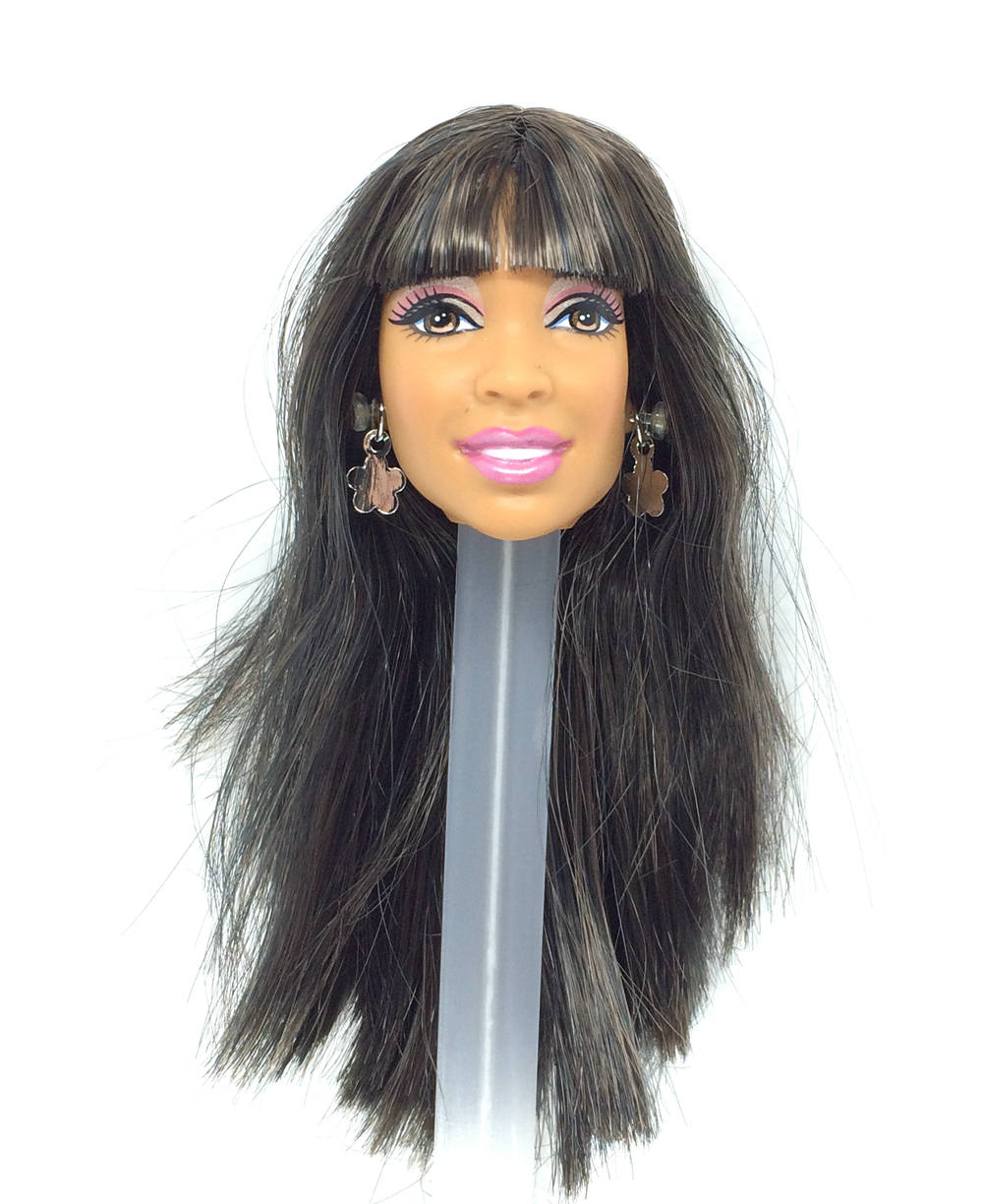 NK One Pcs Doll Head With Long Hait For 30 CM Doll Fit  For 1/6 Doll Accessories  Best DIY Gift For Girls'  Doll 010 6X