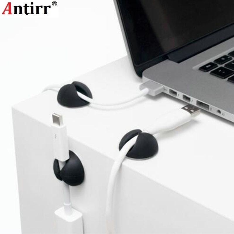 Antirr Organizer Protector Cable-Holder Silicone Wire-Retention-Clips Power-Cord-Winder