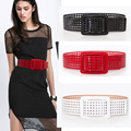 New Fashion Designer Faux Leather Big buckle Wide waistband for women Cutout Leather Wide belt dress accessories Waist belt
