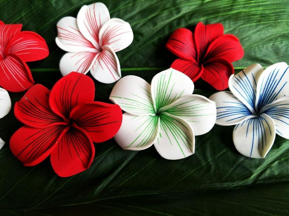 Free Shipping F1146  252pcs/ Lot 6-7CM 7COLORS Foam Plumeria Hair Pick  Women Wear Hair Accessories Hawaii Tropical Flower