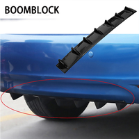 BOOMBLOCK Car Rear Bumper 3D Cool Shark Stickers For Bmw E46 E39 Audi A3 A6 C5 A4 B6 Mercedes W203 W211 Mini Cooper