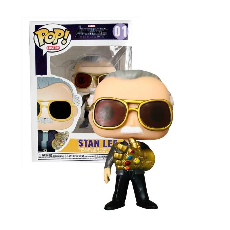 FUNKO POP NEW Style MARVEL Avengers: Endgame Stan Lee & QUAKE Action Figures Collectible Toys for Children birthday gift