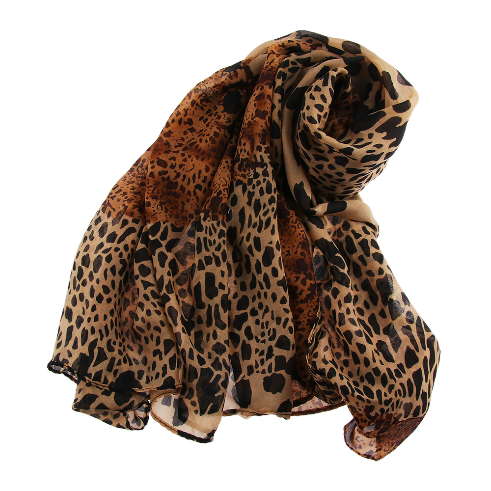2019 New Brand Women Fashion Long Chiffon   Scarves   Leopard Dot Print Shawl All-match Soft   Scarf     Wrap   Muslim Hijab Snood 160*70Cm