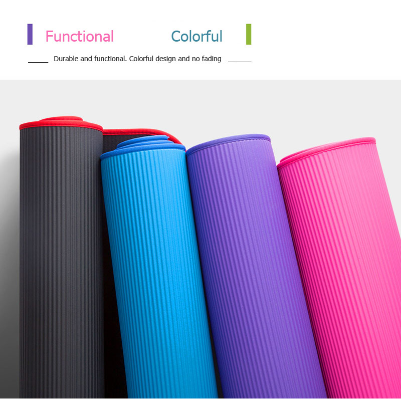 10mm Thickened Non-slip Yoga Mats Tear Resistant NBR Fitness Mats Exercise Sports Gym Pilates Pads With Yoga Mat Bag & Strap