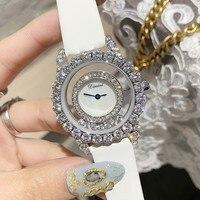 Top Luxury Diamond Women Watches Women Roll Drill Crystal Rhinestone Quartz Wristwatch Bracelet Ladies Watch relogio feminino
