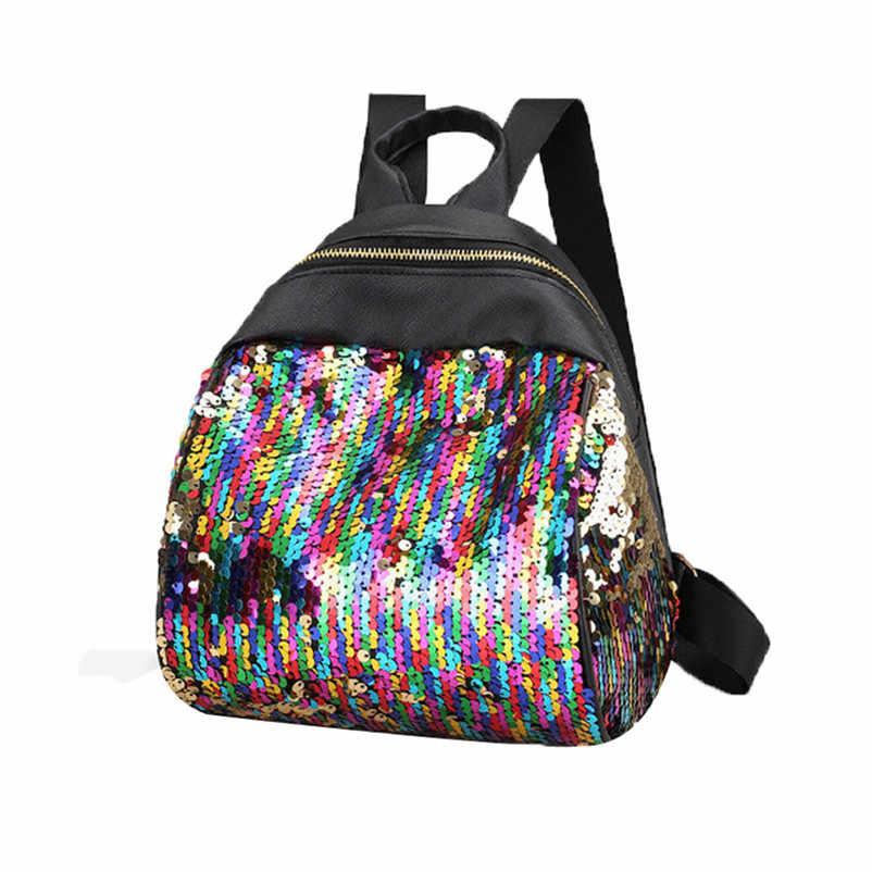 Для женщин Девушка Рюкзак Путешествия Рюкзак плечо Блестящий Блёстки Школьные ранцы дамы известный дизайнер летние рюкзак мешок DOS