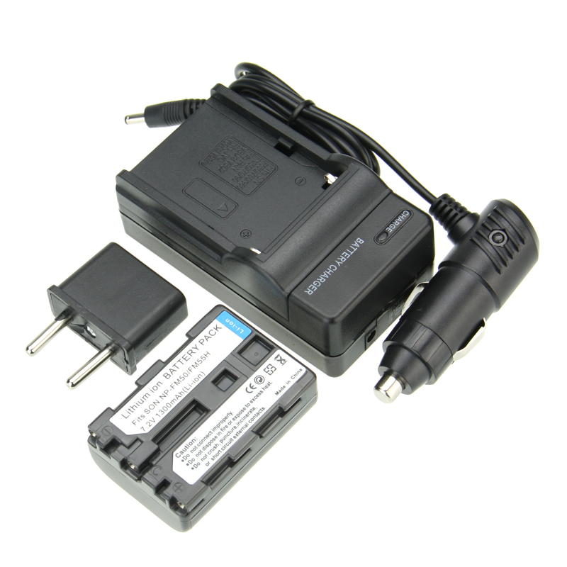 Prix pour Vente chaude 1 pcs Batterie + Chargeur NP-FM50 NP FM50 Batterie Rechargeable de L'appareil Photo Pour Sony NP-FM51 NP-QM50 NP-FM30 NP-FM55H