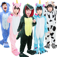 Top Quality Cute Cartoon Baby Boys Girls Bird Panda Children Flannel Stitch Animal Pajamas Kids Pajama
