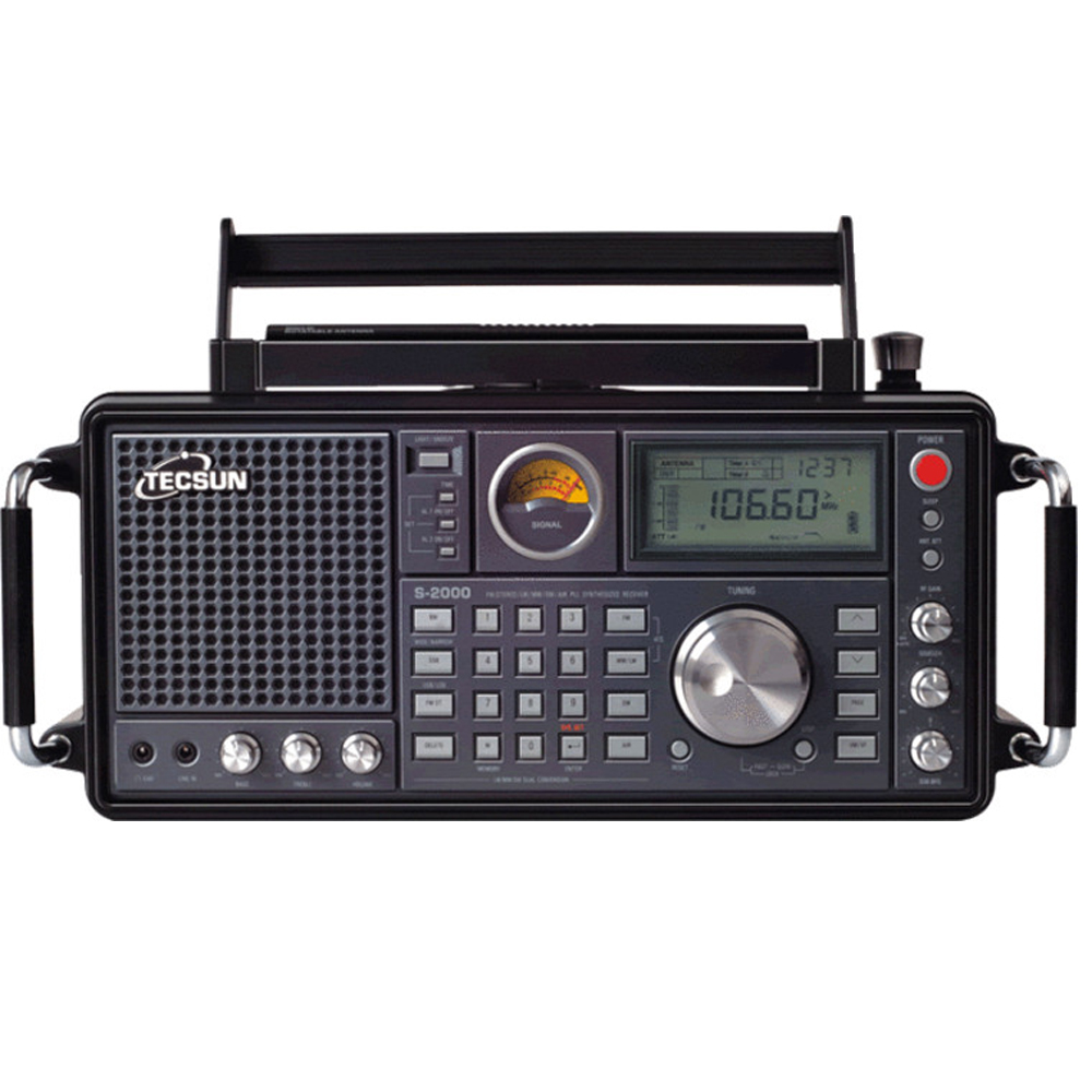 TECSUN S-2000 HAM Amateur Radio SSB Dual Conversion PLL FM/MW/SW/LW Air Band free shipping tecsun pl 450 fm radio stereo lw mv sw ssb air pll synthesized pl450 secondary variable frequency radio