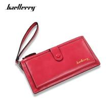 Купить с кэшбэком Baellerry Newest Design Leather Women Wallets Long High Quality Zipper Walle Female Card Holder luxury Ladies Purse Money Bag