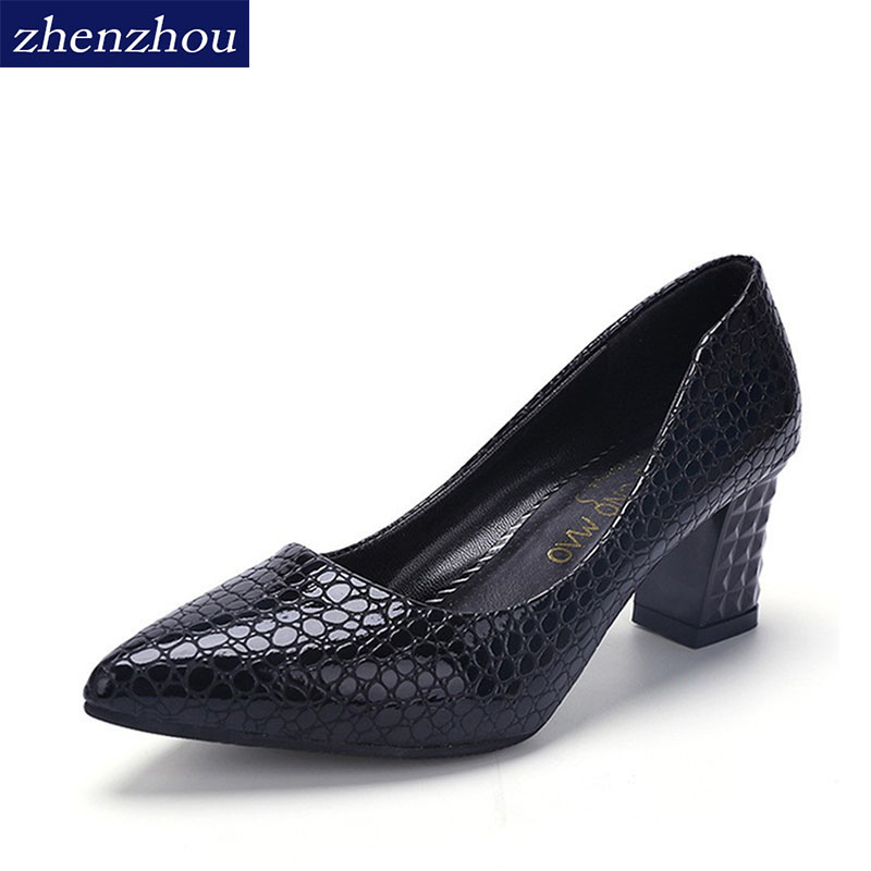 zhen zhou 2017 spring and autumn women's new fashion trend leadership cusp High heel shoes The shallow mouth Professional shoes zhou jianzhong ред oriental patterns and palettes cd rom