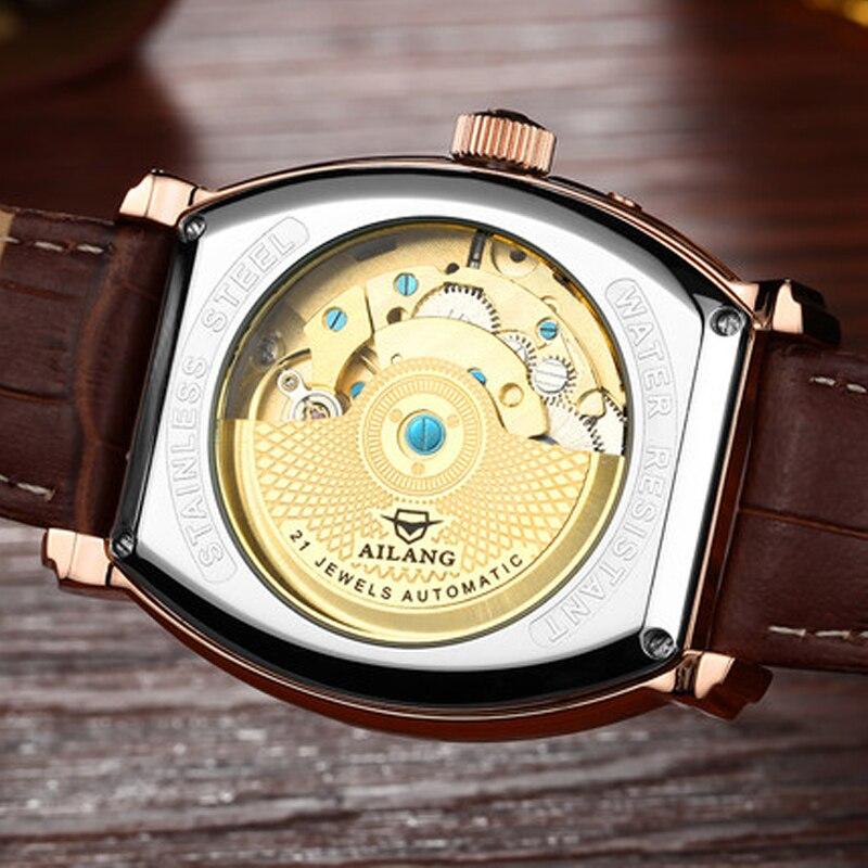 Роскошные Брендовые мужские стальные часы, мужские автоматические механические часы, многофункциональные военные спортивные часы, мужские часы - 5