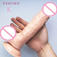 DIAOSHI 24cm Realistic big Dildo with Suction Cup huge Dong Real good hand feel Masturbation Sex