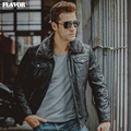 3 Colors Men's real leather jacket fur collar Genuine Leather pigskin motorcycle jackets winter warm coat men