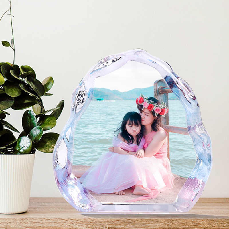 DIY Customized Crystal Wedding Photo Album Family Picture Stickup Photo Frame for Valentine's Day Anniversary Birthday Gifts