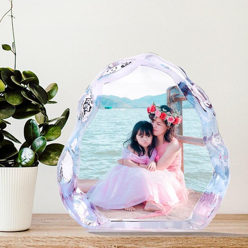 Bricolage personnalisé cristal mariage Photo Album Photo famille Photo cadre Photo pour la saint-valentin anniversaire cadeaux d'anniversaire