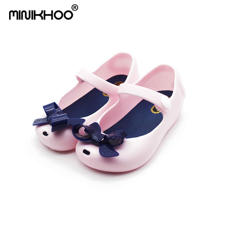 Mini Melissa Brazil Girl Jelly Bow Sandals 2018 New Children Sandals Shoes  Water Shoes Beach Sandals Breathable Kids Sandals-in Sandals from Mother    Kids ... 134ee3f3b