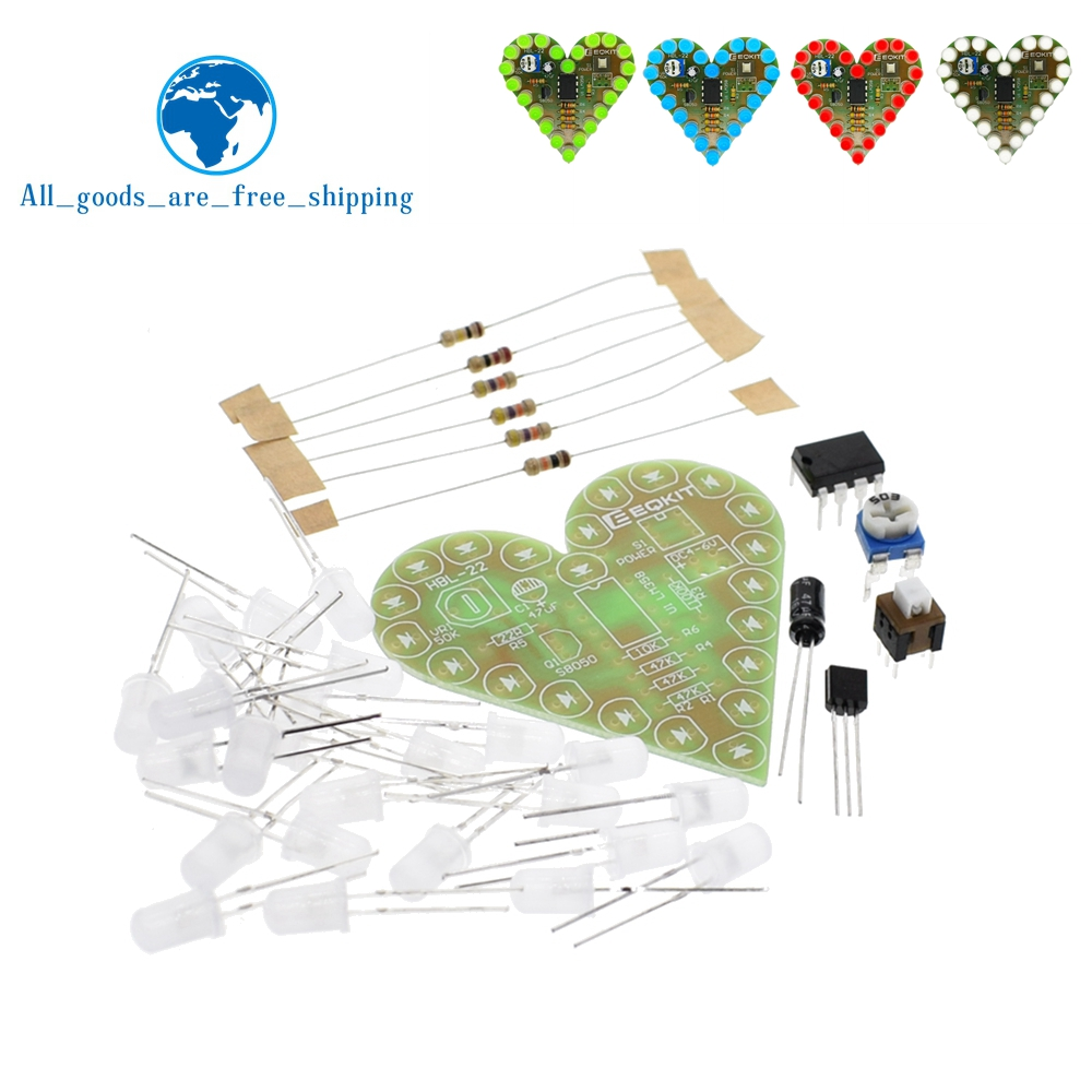 US $1.2 |DIY Kit Heart Shape Breathing Lamp Kit DC 4V 6V Breathing LED Suite Red White Blue Green DIY Electronic Production for Learning-in Integrated Circuits from Electronic Components & Supplies on Aliexpress.com | Alibaba Group