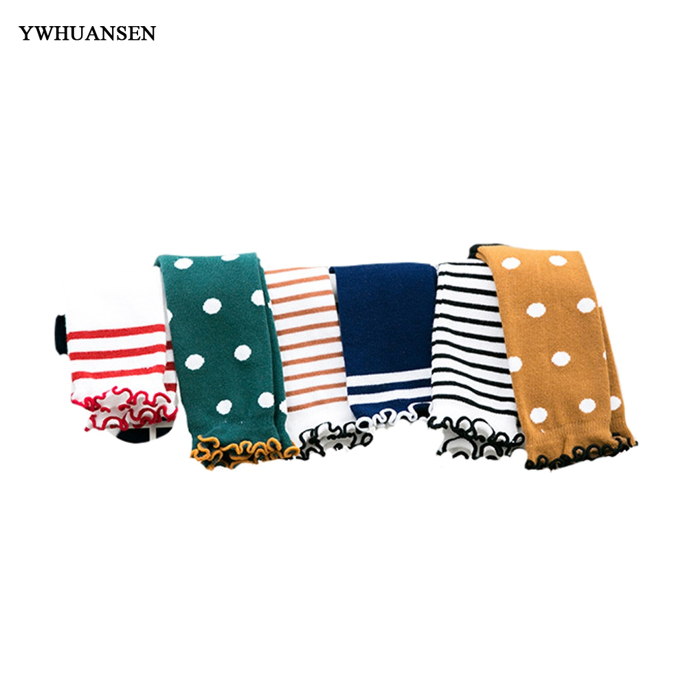 YWHUANSEN 2018 New Spring Colorblock  Striped  Dot Cotton baby Socks Fashion lace Breathable Childrens Knee socksYWHUANSEN 2018 New Spring Colorblock  Striped  Dot Cotton baby Socks Fashion lace Breathable Childrens Knee socks