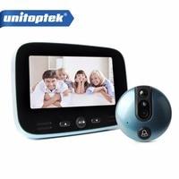 4 3 HD 1080P Doorbell LCD Color Screen Video Door Phone Digital Door Viewer Smart Peephole