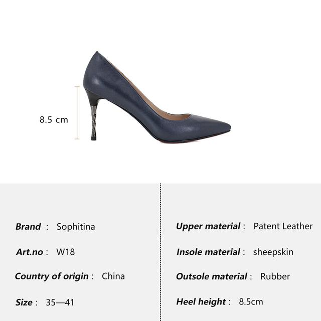 SOPHITINA Brand Genuine Leather Pumps Sexy Pointed Toe Super High Spiral Heel Shallow Party Shoes New