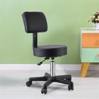Massage Stool Beauty Hairdressing Salon Adjustable Swivel Gas Lift Manicure Backrest Stool Chair Equipment