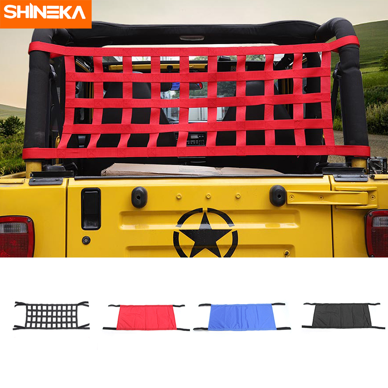 SHINEKA Roof-Hammock Wrangler Yj Jeep Car-Bed Auto-Products Waterproof Red for TJ JK