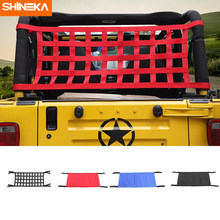 SHINEKA Red Roof Hammock for Jeep Wrangler YJ TJ JK JKU 1987-2018 4 Door 2 Door Waterproof Car Bed Rest Hammock Auto Products(China)