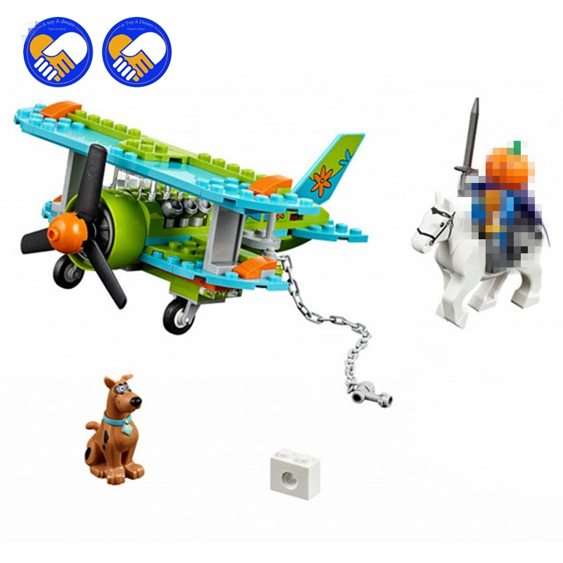 (A Toy A Dream)128pcs Bela 10429 Mystery Plane Adventures Scooby Doo Dog Shaggy Horseman Mini toys building blocks bela 10429 scooby doo mummy museum mysterious plane minifigures building block minifigure toys best legoelieds toys