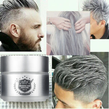 ISILANDON Silver Wax 120ml Men women Professional Hair Pomades Moisturizing Styling Fluffy Matte Stereotypes Waxes Hair Gel Poma