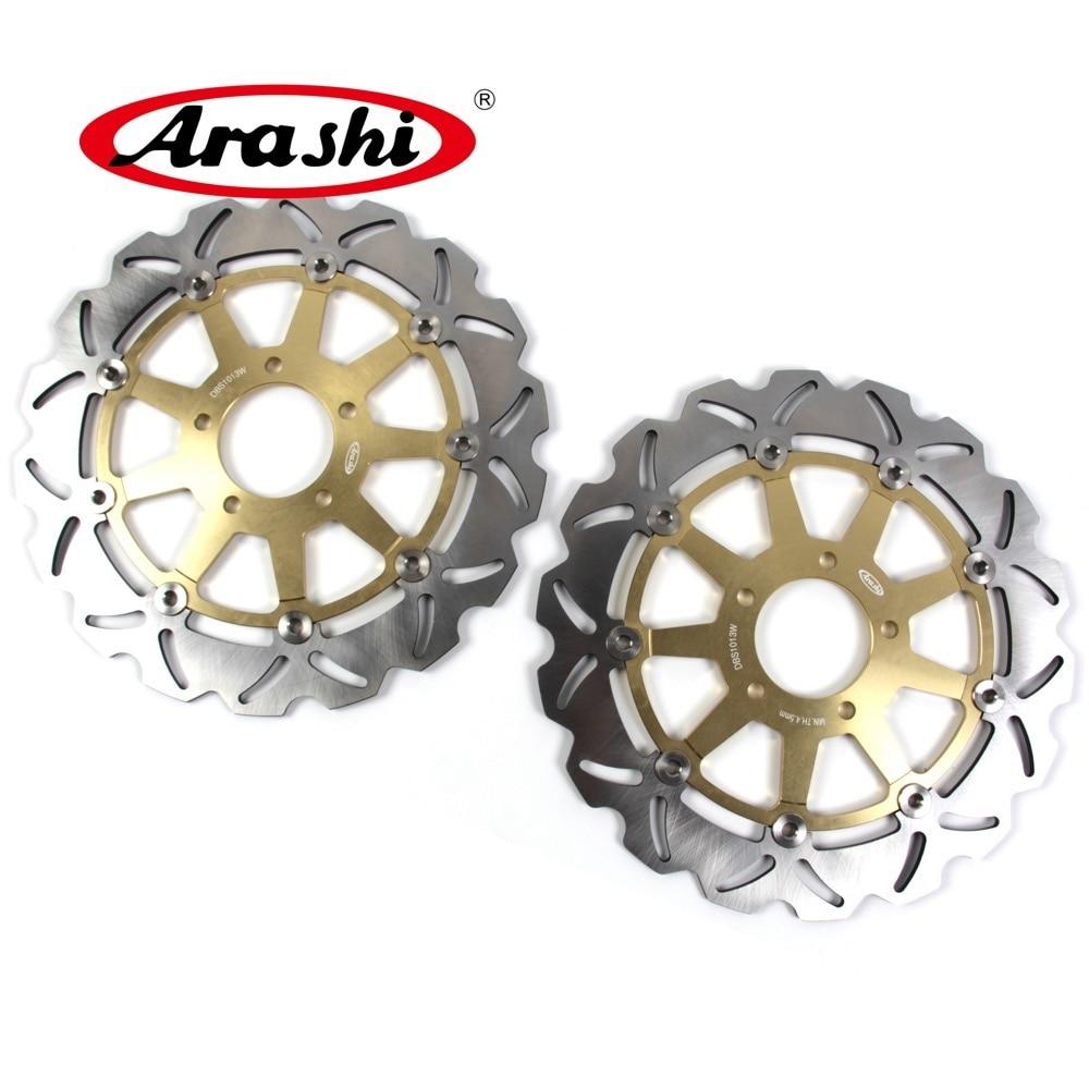 ARASHI CNC Front Brake Discs Brake Rotors For SUZUKI GSX R 1300 HAYABUSA 99-07 GSXR1300 GSXR-1300 GSX1300R GSX 1400 GSX1400 88 89 90 91 92 93 94 95 96 97 98 99 00 full set front rear brake discs rotors for suzuki gsx r 750 1100 gsxr750 gsxr1100 88 00