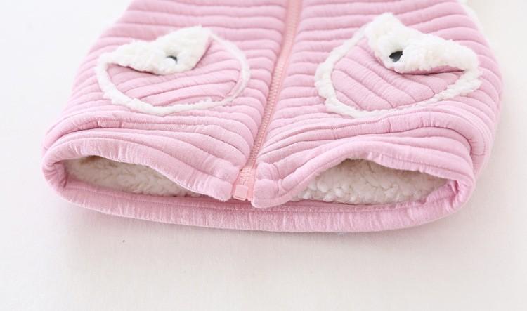 baby girl winter warm fleece vest jacket waistcoat hooded (8)
