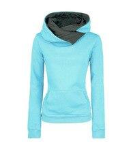 Отложным нагрудные воротником кофты пуловеры толстовки капюшоном твердые повседневная осень зима