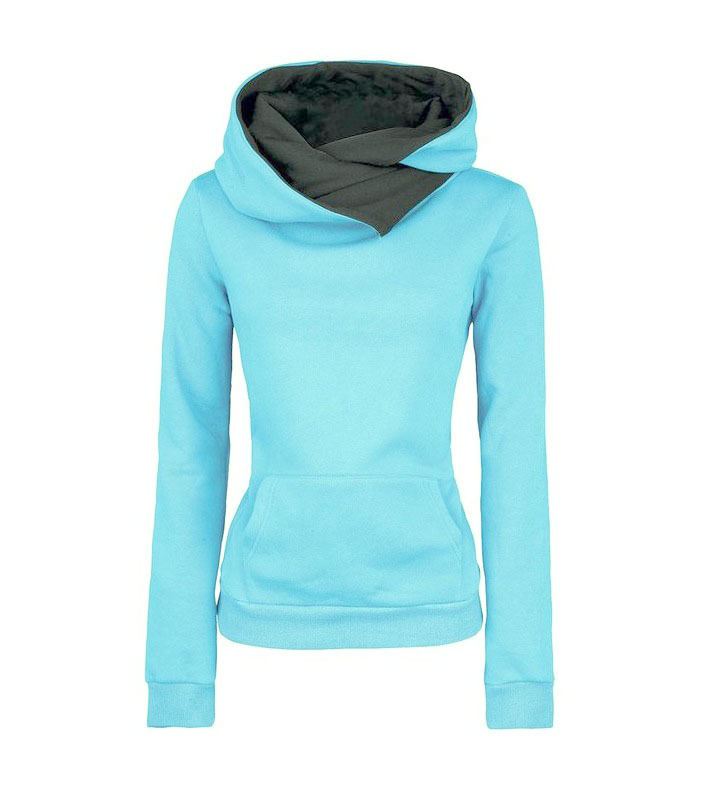 Spring Autumn Winter Women Casual Solid Hoodies Unisex Lapel Hooded New Sweatshirts Pullovers Turn-down Collar WBA0010