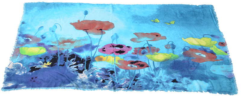 Sweet Garden Painting Scarf | Lightweight Scarves | Up to 60% Off Now