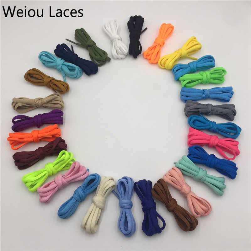 Weiou Полиэстеровые овальные шнурки 6 мм спортивные кроссовки обувные шнурки для шнуровки однотонные баскетбольные шнурки лучший матч