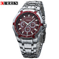 Curren 8084 Mens Business Watches Original Brand Full Steel Wrist Watches Big Eight Corners Face Japan Movement Quartz Relogio