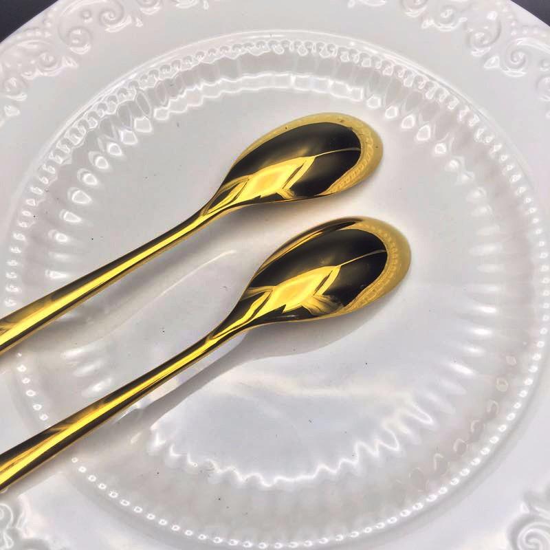 Gold coffee spoon set  (1)