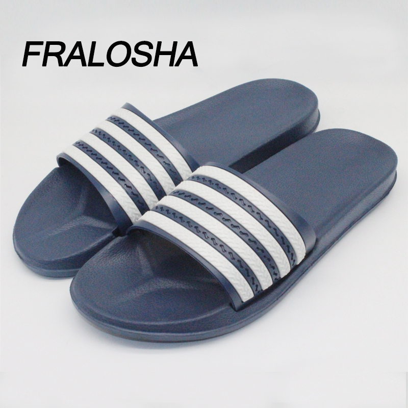 FRALOSHA New Striped Home Slippers Sandals Summer Fashion Men's Indoor And Outdoor Leisure Non-slip Beach Shoes Couple Slippers summer couple slippers 2016 new tide male cork slippers couple slippers beach sandals women sandals page 6
