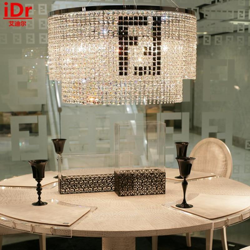 Vintage dining room crystal lamp rectangular living room bedroom lighting k9 Crystal LED Ceiling Lights Light free delivery kzj 108p k9 rectangular prism